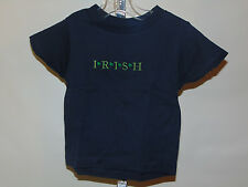 NEW IRISH EMBROIDERED GREEN ON BLUE SHORT SLEEVE TOP SIZE 12 MONTHS