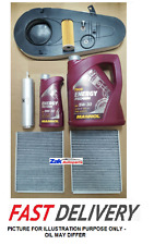 BMW 520 D 520D F10 F11 Service Kit,Oil,Air,Fuel,Pollen Filters|6L Oil+Sump Plug