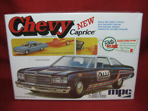 Chevy Caprice + Trailer Stock/Security/Hauler Options MPC 1:25 Model Kit MPC753