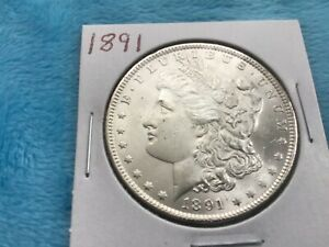 1891. Morgan Silver Dollar.   BU