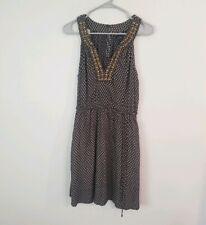 Lucky Brand Navy Blue Print Sundress Sz Small Dress Beaded