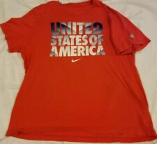 United States Of America Spellout Nike USMNT US Mens Soccer Team Slim Fit XXL 2X
