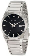 Bulova Men's 96B149 Classic Stainless Steel Black Dial Dress Watch