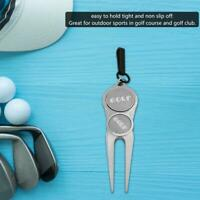 Portable Golf Divot Tool Putting Green Fork with Golf Ball Marker New