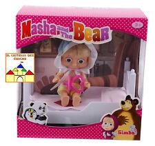 MASHA E L'ORSO Bambola Masha 12cm con Lettino by Simba