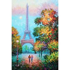 ALEXANDER ANTANENKA A WALK TO THE EFFIEL TOWER HEAVILY HAND EMBELLISHED GICLEE