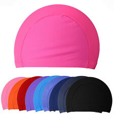 Men Women Adult Unisex Swimwear Swimming Swim Spandex Fabric Easy Fit Hat Cap