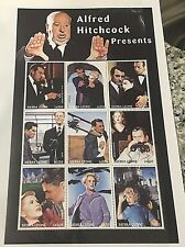 ALFRED HITCHCOCK PRESENTS Souvenir Sheet Mint Stamps Set Psycho Stewart Cary