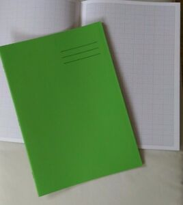 A4 maths exercise book NEW with 32 pages graph paper (2mm and 1cm squares)