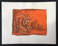 Peter Angermann, Die Kultur, Farblithographie, 1990, handsigniert und datiert