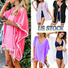 Womens Beachwear Cardigan Tassel Bikini Cover Up Dress Kaftan Sarong Beach Dress