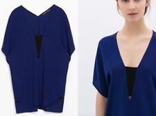 Zara Patternless Casual Blouses for Women