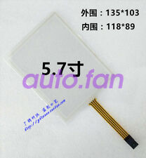 New for 5.7 inch 4-wire industrial computer resistance touch glass 135*103