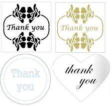 Thank You stickers envelope seals invitation  gold silver labels Designer x 50