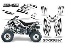 POLARIS OUTLAW 450 500 525 2006-2008 GRAPHICS KIT CREATORX DECALS SPEEDX BW