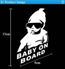 Bébé En Voiture Decal Sticker Autocollant Blanc Vinyle Badge Pour Voiture Décor