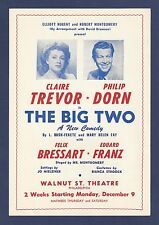 "Jack Palance (Debut) ""THE BIG TWO"" Claire Trevor / Philip Dorn 1946 FLOP Flyer"
