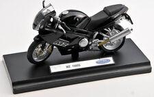 BLITZ VERSAND MZ 1000S / 1000 S schwarz black 1:18 Welly Motorrad Modell NEU OVP