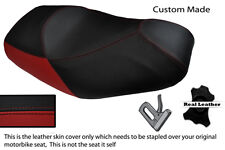 Rojo oscuro y negro Custom encaja Piaggio Mp3 125 250 300 400 500 de doble cubierta de asiento