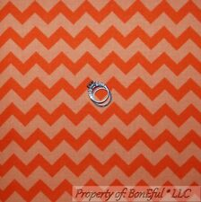 BonEful Fabric FQ Cotton Quilt Orange Bright STRIPE Chevron Retro Halloween Girl