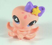 Littlest Pet Shop Pink Octopus Purple Bow #513 Blue Eyes Hasbro Toy 4+ LPS