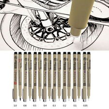 8pcs Sakura Pigma Micron Fine Line Pen 005 01 02 03 04 05 08 BRUSH Art Supply N