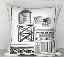 Bar III Cityscape 16 In Decorative Pillow Black White
