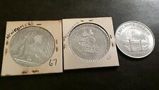 lot (3) NEWCOMERS Mardi Gras doubloons 1967,68,73