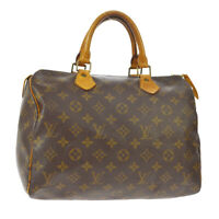 LOUIS VUITTON SPEEDY 30 HAND BAG MONOGRAM CANVAS LEATHER M41526 SP1924 A49731