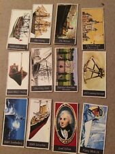 12 Maritime Collection Cigarette Cards