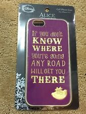Disney Alice In Wonderland Cheshire Cat Road Quote iPhone 6/6S Case NIP!