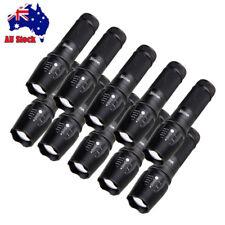 10Pcs/set 20000lm Tactical Flashlight LED Zoom Focus Military Torch 18650/26650