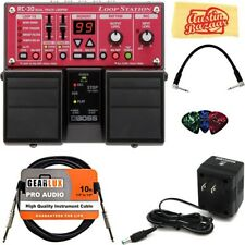 Loop Pedal Station Electric Guitar Effects Bundle Patch Cable Adapter Included