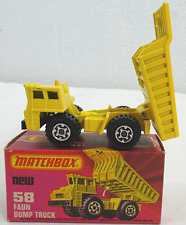 VINTAGE MATCHBOX 1976 FAUN DUMP TRUCK NEW UNUSED OLD STORE STOCK