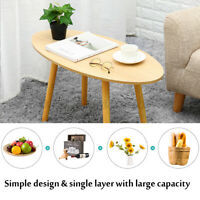 Round Coffee Table Living Room Bedside Sofa Sides Nordic Wood Desk Home Hotel US