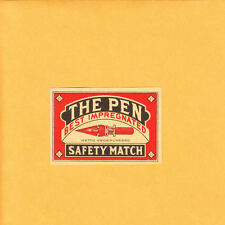 VINTAGE Match Matchbox Label DEEP RICH COLOR The Pen Wettig Gedeponeerd B1