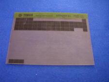 YAMAHA DT50MX 85 DT 50 MX  GEN PART CATALOGUE MICROFICHE 1984