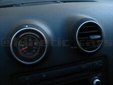 AUDI A3 MK2 8p A4 Calentador de ventilación 52 mm calibre Adaptador de panel Pod. Paquete Doble Negro Brillante