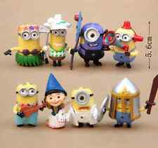 Despicable me 2 Minions Movie Character Doll Set of 8pcs Figures 5-6 cm toy Gift