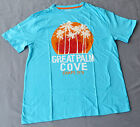 Chaps Boys Printed T Shirt - BLUE - SIZES - 14-16 & 18-20 YEARS - NEW