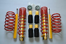 AUDI 80 B4 SALOON SUSPENSION LOWERING SPRINGS + SHOCKS BEARINGS PROTECTIONS KIT