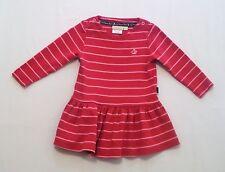 JoJo Maman Bebe Pink Striped Drop Waist Dress, 12-18 mos.