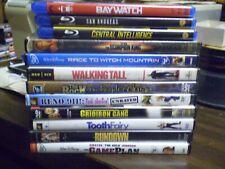 "(14) Dwayne ""The Rock"" Johnson Blu-Ray DVD Lot: Hercules  Baywatch  San Andreas"