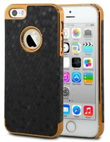 Luxury Chrome Shockproof Hard Protective Case Cover For Apple iPhone 5 5S SE