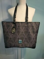 Disney Dooney & Bourke Large Haunted Mansion Wallpaper Grey Tote Bag Leather