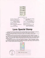 #8405 20c Love Stamp - Scott #2072 USPS USPS Souvenir Page