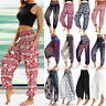 New Women Harem Pants Baggy Hippie Wide Leg Gypsy Yoga Boho Flare Beach Trousers