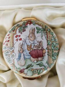 Crummles Beatrix Potter Enamel Large Box Peter Rabbit Mrs Rabbit Mopsy Mint Box
