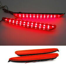 Red Lens LED Rear Bumper Reflector Tail Brake Stop Light For 03-08 Mazda6 Atenza