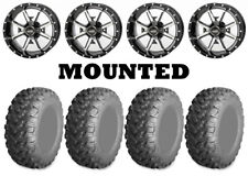 Kit 4 AMS RadialPro AT Tires 26x9-14/26x11-14 on Frontline 556 Machined POL
